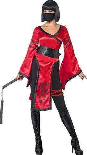 Imagen de mujer guerrero en la sombra ninja disfraz halloween talla pequeña 8 a 10