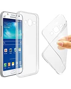 ESI Premium Protection Soft Transparent Jelly 0.3mm Flexible TPU Slim Back Case Cover For Samsung Galaxy On7 Pro -Transparent