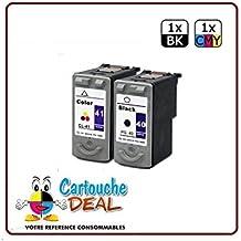 CANON PG-40 CL-41 - Juego de 2 cartuchos de tinta para Pixma MP140, MP150, MP160, MP170, MP180, MP190, MP210, MP220