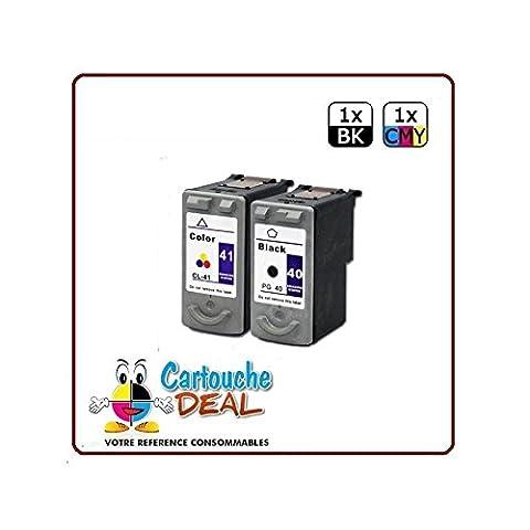 CANON PG-40 CL-41 : Lot 2 cartouches compatible pour Pixma MP140 MP150 MP160 MP170 MP180 MP190 MP210 MP220 PG40 CL41