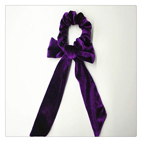1Pcs Velvet Hair Scrunchies Hair Scarf Bowknot Elastic Hair Bands Colorful Ponytail Holder Ties Summer Holiday Accessories for Women Girls Velvet Holiday-outfit