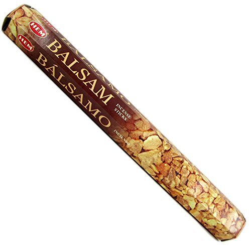 Balsam - Box of Six 20 Stick Tubes, 120 Sticks Total - HEM Incense by HEM 6 Pack 20 Stick -