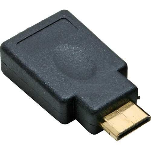 InLine 12493Adapter von HDMI 19pin Type Weiblich zu HDMI mini type-c männlich, vergoldete Pin, schwarz