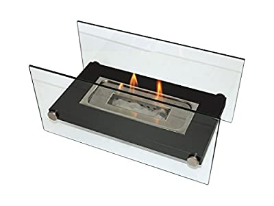 PURLINE Tabletop Biofireplace Portable Bioethanol Fireplace for Indoors and Outdoors ONIROS Tabletop with Stainless Steel Burner