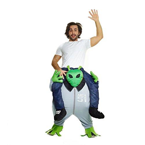 Morph Costume divertente con le gambe autogonfiabili, Unisex, Alieno, Taglia unica