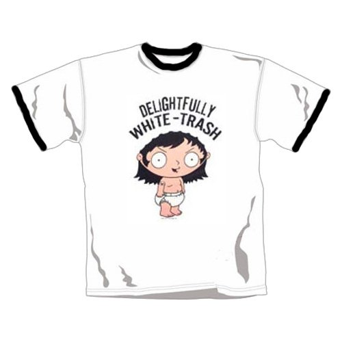 Family Guy - T-Shirt White Trash (in XL) -
