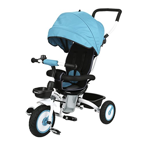 fascol baby dreirad 4 in 1 klappbar trike mit schubstange und sonnendach abnehmbarer. Black Bedroom Furniture Sets. Home Design Ideas