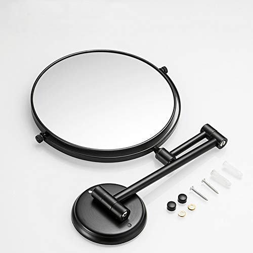 Badezimmerspiegel D Schwarzer Schönheits-Spiegel-Badezimmer-Klappspiegel-Teleskopspiegel-Hotel-Badezimmer-Vergrößerungsspiegel-Wand-hängende Wand -719