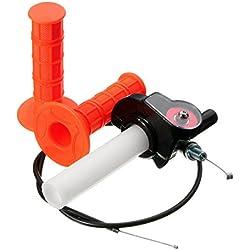 ZHENWOFC Poignée de poignée de papillon de torsion de 7 / 8inch avec le câble pour le pit bike de saleté de quad d'ATV 110cc 125cc Accessoires pour outils de bricolage