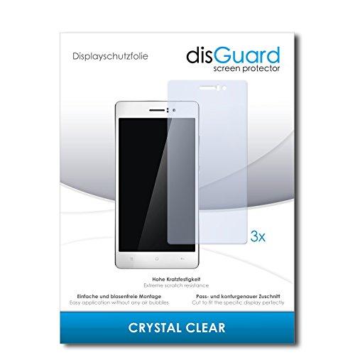 disGuard® Bildschirmschutzfolie [Crystal Clear] kompatibel mit Oppo R5 [3 Stück] Kristallklar, Transparent, Unsichtbar, Extrem Kratzfest, Anti-Fingerabdruck - Panzerglas Folie, Schutzfolie