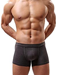 Tongshi Calzoncillos suave calzoncillo retro Pantalones cortos del bombeo de Nueva Funda interior de los hombres de los hombres de (Gray, XXL)