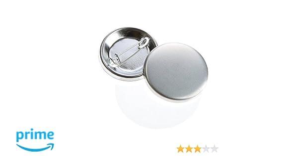 1000 Stück 59 mm Buttonrohlinge Ansteckbuttons mit Sicherheitsnadel Badgematic