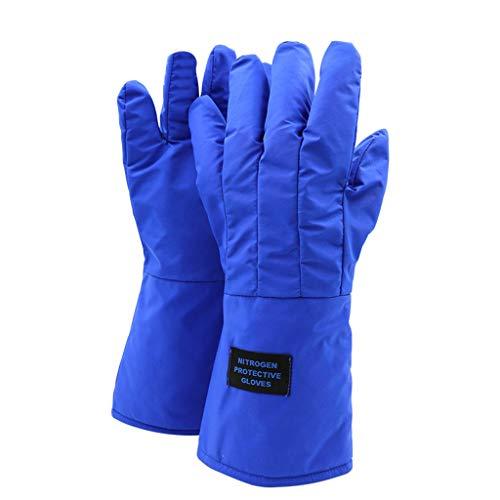 SPFOZ Sicherheitshandschuhe Anti-Flüssig-Stickstoff-Handschuhe, Frostschutzmittel und niedrige Temperaturen beständige Handschuhe, LNG-Tankstelle Trockeneis-Test Kühllager spezielle Kalthandschuhe