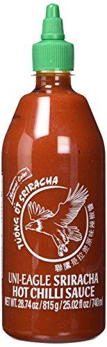 Uni-Eagle Chili Sauce Sriracha scharf – Hot Sauce mit Chilies & Knoblauch ohne Geschmacksverstärker – 2 x 815g