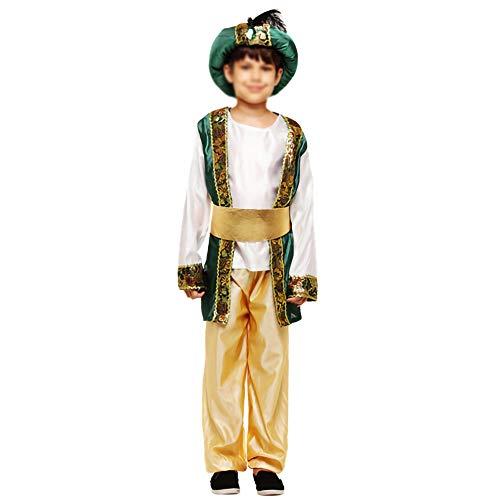 Kostüm Boy Ägyptische - HTTX-GX Halloween-Kinderkostüme, Maskerade-Indianerprinzen-Araber-Kostüme, Spielen des ägyptischen König-Aladdin-Prinz-Kostüms,Gelb,L