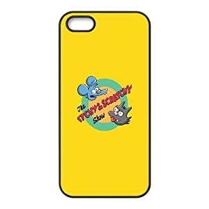 Itchy And Scratchy iPhone 5 5s Cell Phone Case Black BSI_867138