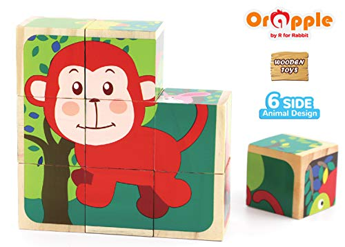 Orapple by R for Rabbit - Safari Cube Puzzles for Kids for Learning & Educational Toys for Age 1.5 + Years Old(Multicolor)
