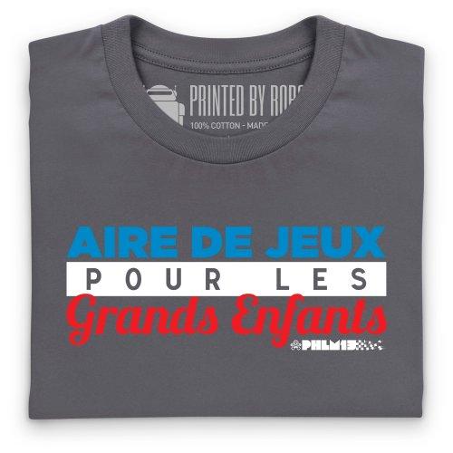 PistonHeads Aire de Jeux T-Shirt, Damen Anthrazit