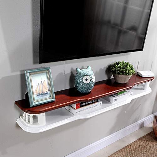 TV Rack WiFi-Router Set-Top-Box Regal Tv-Hintergrund Wanddekoration Regal Wand-Tv-Schrank Floating...