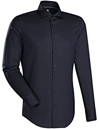 JACQUES BRITT Business Hemd Slim Fit Langarm Bügelleicht Uni / Uniähnlich Businesshemd Hai-Kragen Manschette weitenverstellbar