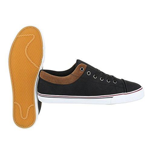 Schnürsenkel Schnürschuhe Sneakers Design Ital Halbschuhe Herrenschuhe Schwarz Oxford CSZUPwq