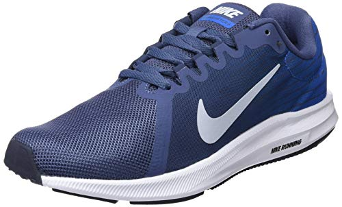 NIKE Damen Downshifter 8 Laufschuhe, Mehrfarbig (Diffused Blue/Football Grey/Cobalt Blaze 404), 38.5 EU