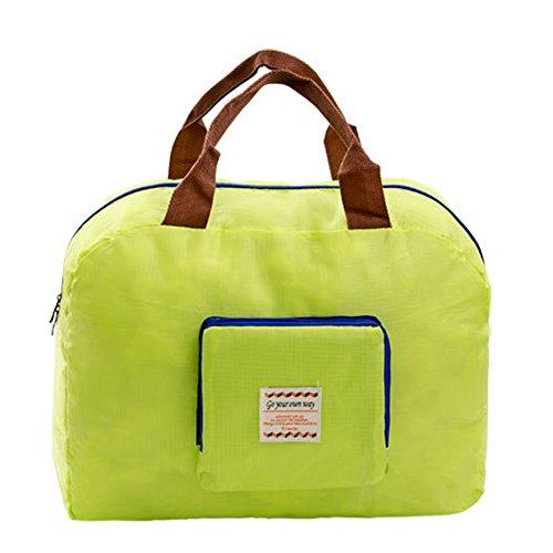 Nuova spalla pieghevole coreana sui viaggi tutto compreso borsa di cosmetici di nylon impermeabile bagagli Storage Bag (verde)