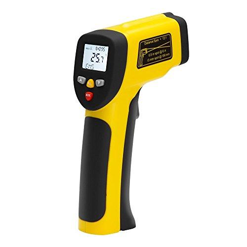 AVANTEK -50 bis +850°C Laser Infrarot Thermometer Pistole Thermometer LCD Beleuchtung Hausgebrauch und Industriemessungen für Küche oder Grill inkl. 9V Batterie