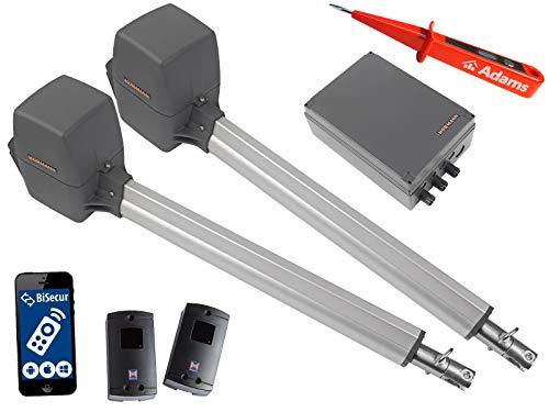 Pl2 Serie (Hörmann, Rotamatic PL2 BiSecur Serie 3 - Drehtorantrieb (2-flüglig) mit WLAN und Lichtschranken EL301 Set 4in1A)