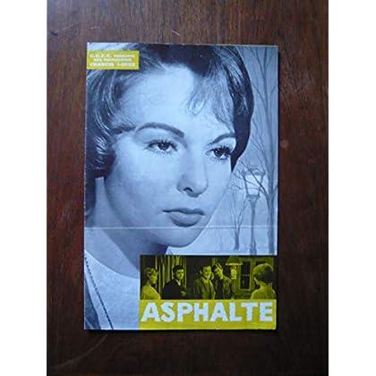 Dossier de presse de Asphalte (1958) – 32x49cm - Film de Hervé Bromberger avec F Arnoul, M Girotti, J-P Vignon – Photos N&B + résumé scénario – Bon état.