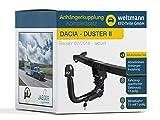 Weltmann AHK Komplettset Dacia Duster II Abnehmbare Anhängerkupplung inkl. fahrzeugspezifischer 13-poliger Elektrosatz