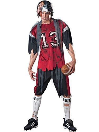 In Character - Costume da giocatore di rugby zombie, Uomo, taglia: XL