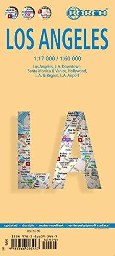 Los Ángeles, plano callejero plastificado. Escala 1:17.000/1:60.000. Borch. por VV.AA.