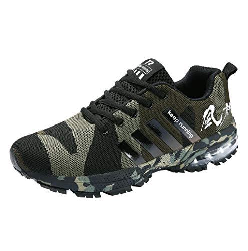 Casual Laufschuhe Herren Tarnung Sneaker Atmungsaktiv Sportschuhe rutschfeste Turnschuhe Männer Leichtgewichts Fitness Schuhe Mode leichte Straßenlaufschuhe Outdoor Gr.39-46 TWBB