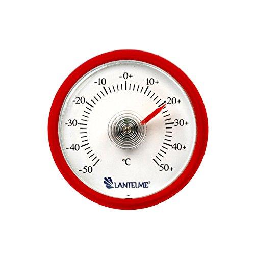 Lantelme 6256 Universal Thermometer - Mit Bimetall Federelement und Analoger Temperaturanzeige Kunststoff Farbe rot
