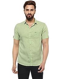 Mufti Button Down Checkes Half Sleeves Shirt