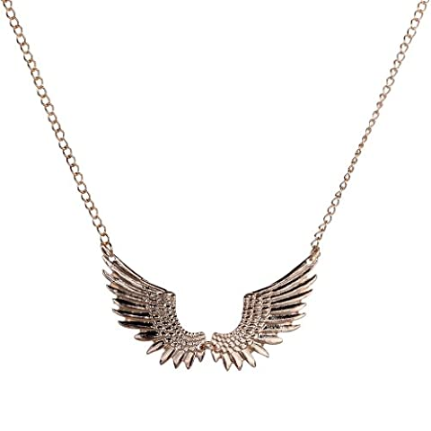 Yazilind Vintage Style Flying Wing Eagle Hawk Golden Metal Chain Pendant Long Necklace Women
