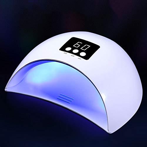 NHX Lampara De Uñas Lámpara De Uñas 36 W UV Secador De Uñas Cable USB Portátil para Regalo De Uso Doméstico 12 Granos De La Lámpara De Gel Esmalte De Uñas Secador Mini USB Luz,White