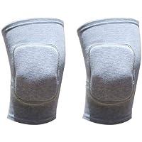 A-YSJ Rodillera 1 Par De Entrenamiento Deportivo Equipo De Protección Rodilleras Elásticas con Una Esponja Rodilleras Rodilleras Yoga Rodilleras (Color : Grey)