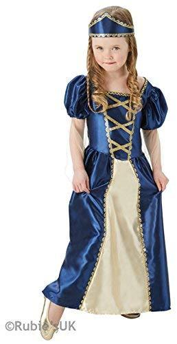 Fancy Me Mädchen Blau/Gold Renaissance Mittelalterlich Reich Tudor -