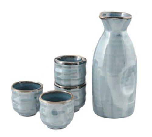 5 pc Sake Set Lt Blue by Happy Sales -