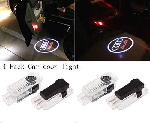 Preisvergleich Produktbild 4er-Pack Auto Türlichter LED 3D Auto Ghost Shadow Licht,  Willkommen Logo Licht,  Auto Logo Projektion Licht für Autotür