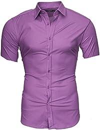 6228509a4d Kayhan Hombre Camisa manga corta Slim Fit S - 6XL - Uni