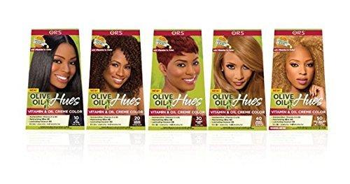 Ors Olive Oil Hues Coloration pour cheveux, Crème à base d'huile d'olive, Enrichie en vitamines, Couleur blond miel