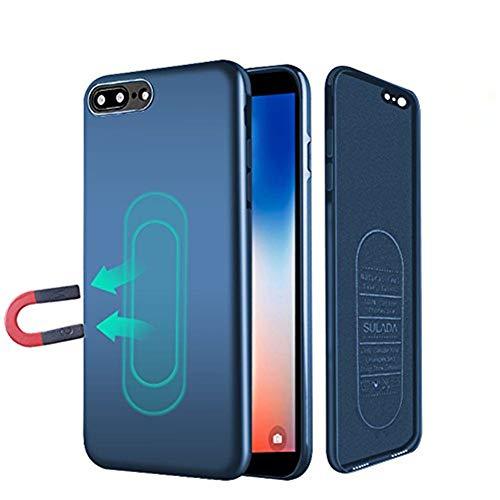 iPhone 7/8 Hülle, [für Magnetische Halterung] Ultra Dünn Soft TPU Handyhülle mit Eingebauter Metal Plate für Magnet KFZ Autohalterung,für iPhone 7/8-Blau - Magnetisches Iphone-halterung