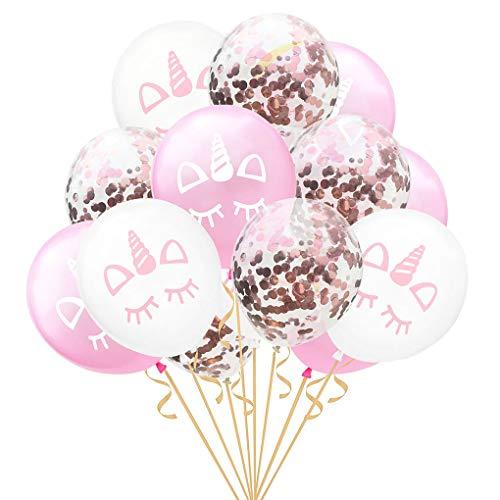 Topker 15pcs de 12 Pulgadas Confeti Globo de la Fiesta de Bienvenida de cumpleaños decoración de la Boda de gallina Evento Globo de Bricolaje Kid Partido