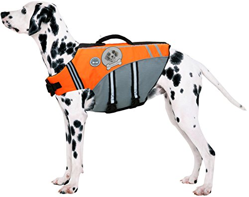 VIVAGLORY New Sports Style Ripstop Dog Life Jacket with Superior Buoyancy & Rescue Handle 6