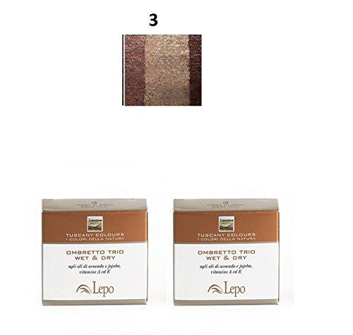 lepo-2-confezioni-di-ombretto-trio-wet-dry-tuscany-n3-terra-di-siena-marrone
