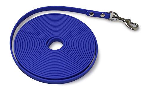 Biothane Schleppleine 9mm, 13mm, 16mm & 19mm breit; 5m & 10m lang; in 6 Farben 9mm breit - 10m lang blau