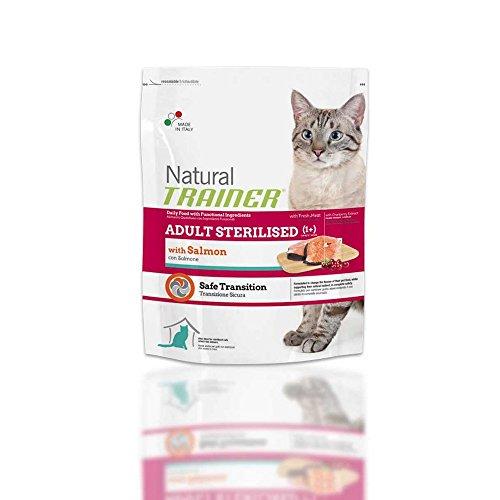 Trainer Natural con Salmone sterilised 1,5kg - Mangimi secchi per Gatti